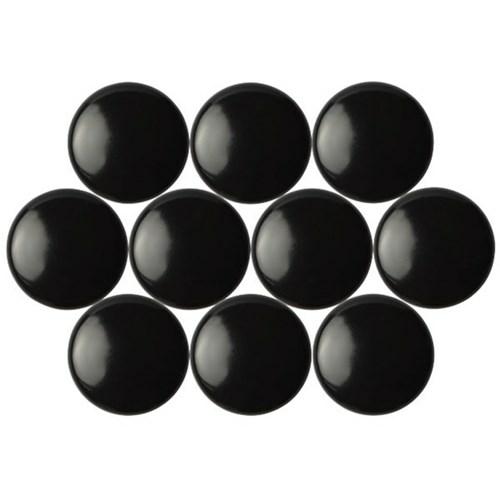 Mágnesgombok - fekete (10 db / csomag)