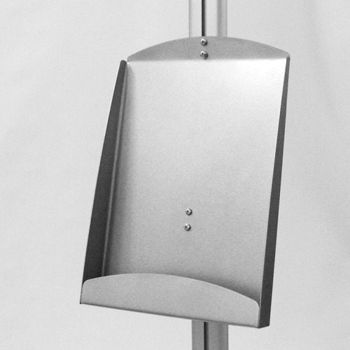Display szerkezetre rögzíthető acél laptartó