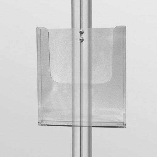 Display szerkezetre rögzíthető plexi laptartó