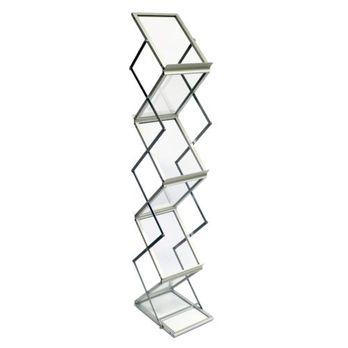 Alumínium Zikk-Zakk állvány tartóbőrönddel - 6xA4
