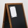 Kép 6/6 - Kültéri fa írható megállítótábla - 46x68 cm - Sötétbarna